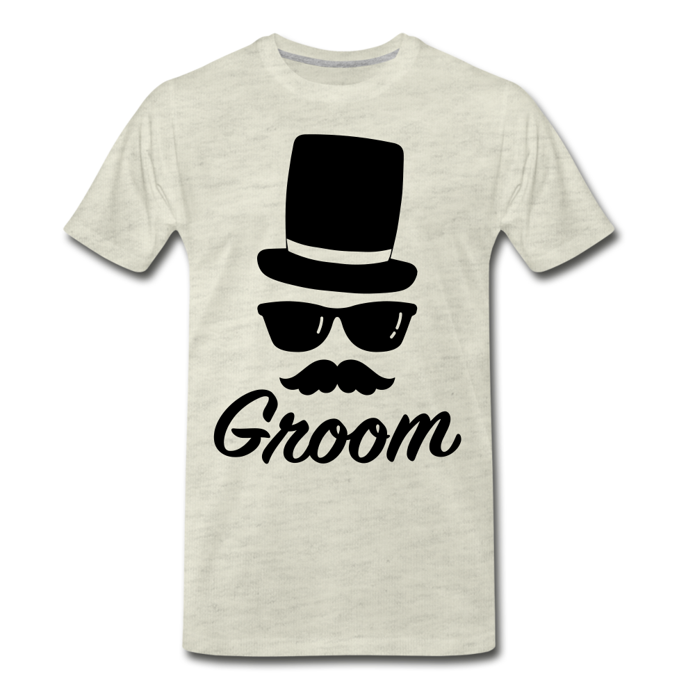 Groom Tee - heather oatmeal