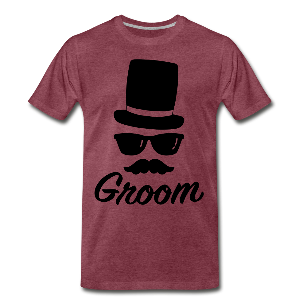 Groom Tee - heather burgundy