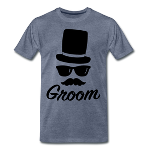 Groom Tee - heather blue