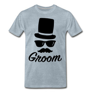 Groom Tee - heather ice blue