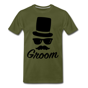 Groom Tee - olive green