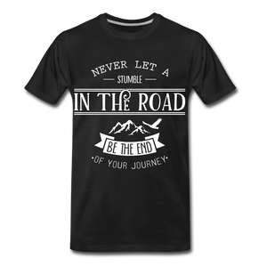 Stumble in the road - black