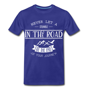 Stumble in the road - royal blue