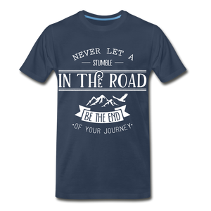 Stumble in the road - navy