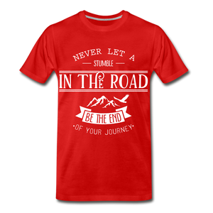 Stumble in the road - red