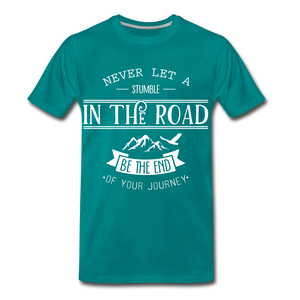 Stumble in the road - teal