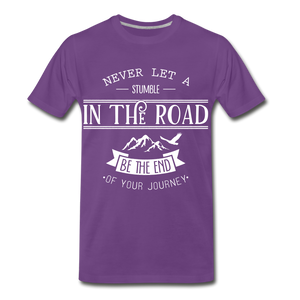 Stumble in the road - purple