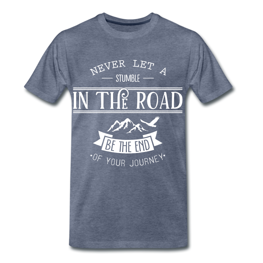 Stumble in the road - heather blue
