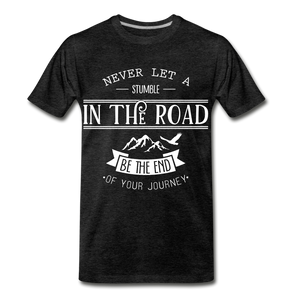 Stumble in the road - charcoal gray