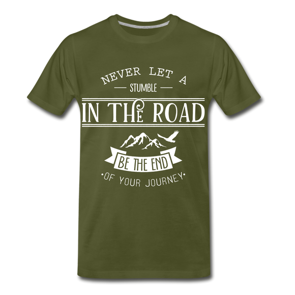 Stumble in the road - olive green