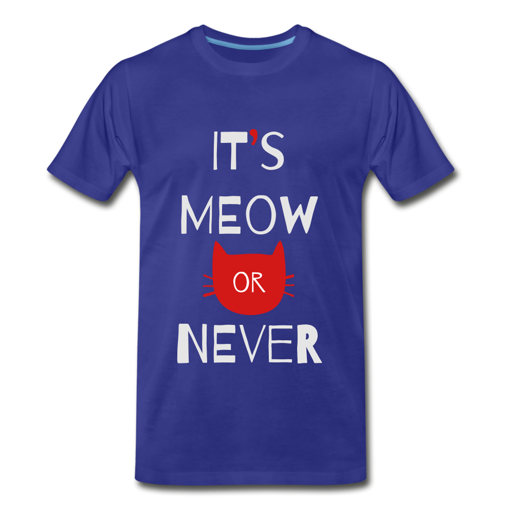 Meow Or Never - royal blue
