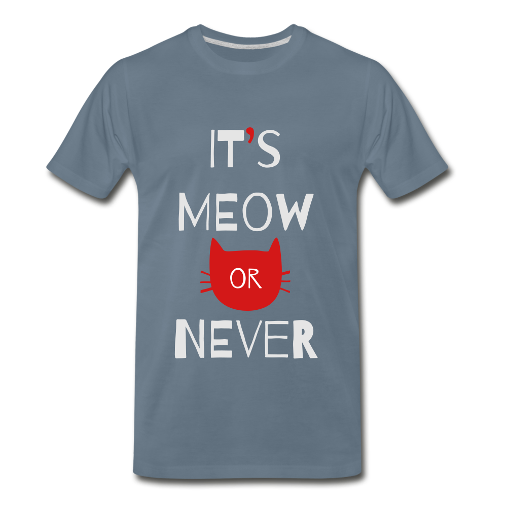 Meow Or Never - steel blue