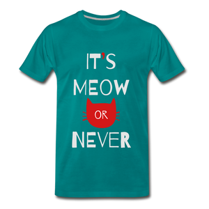 Meow Or Never - teal