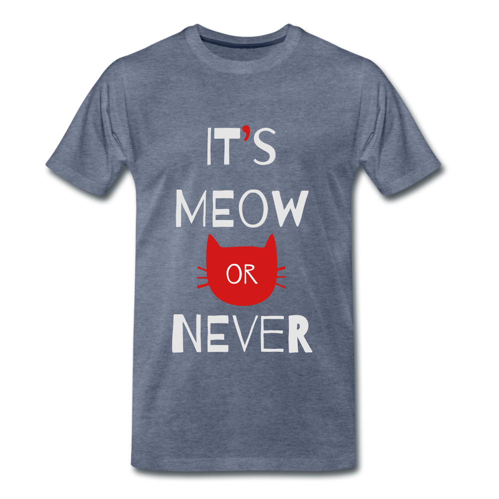 Meow Or Never - heather blue