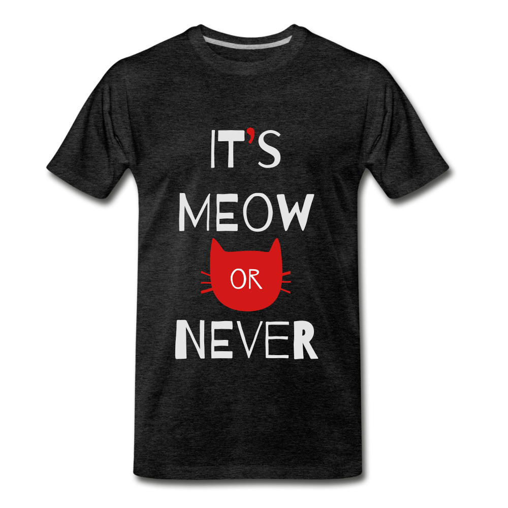 Meow Or Never - charcoal gray