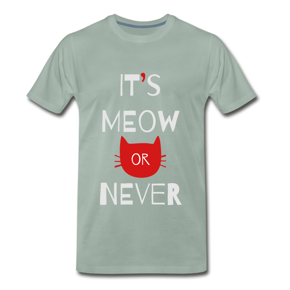 Meow Or Never - steel green