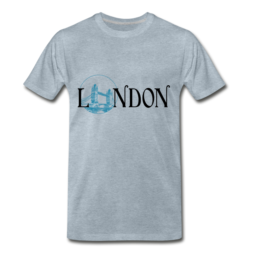 London Tee - heather ice blue
