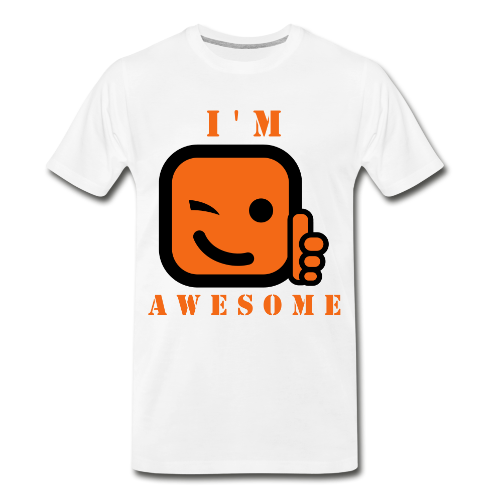 I'm Awesome - white