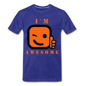 I'm Awesome - royal blue