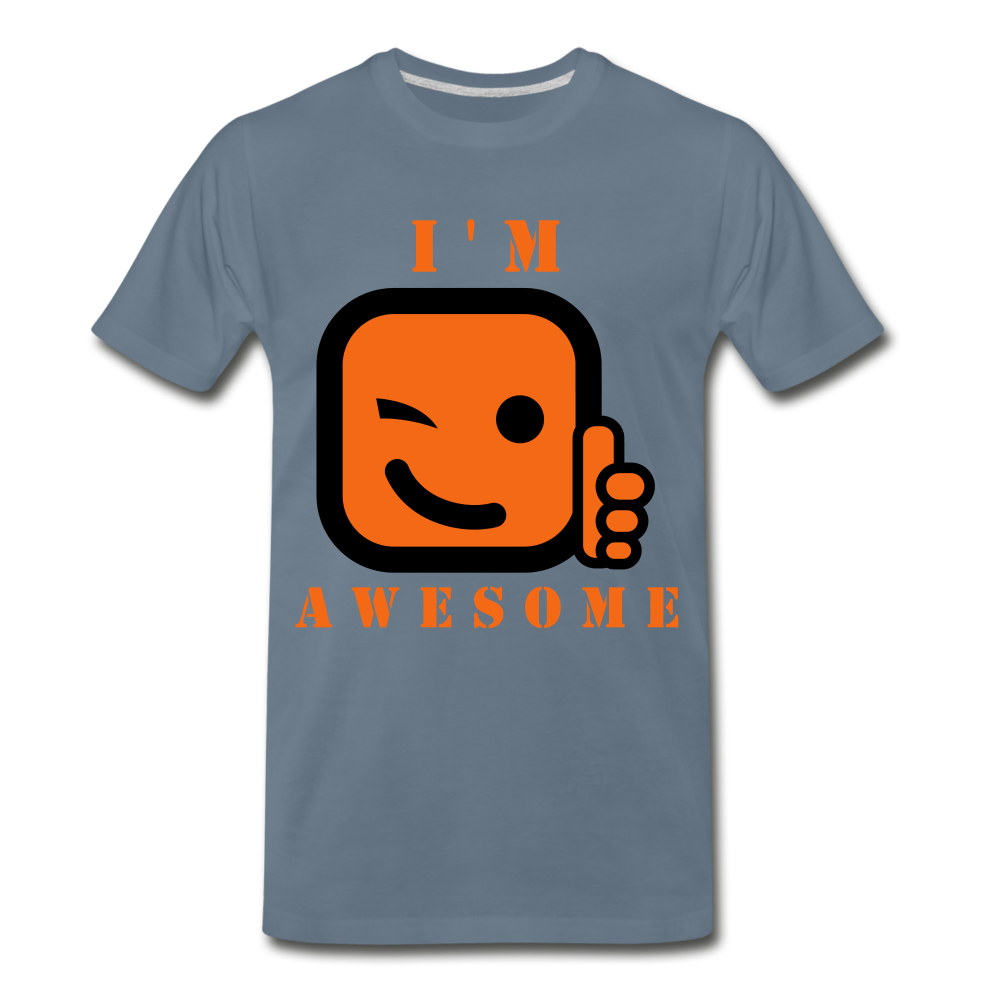 I'm Awesome - steel blue