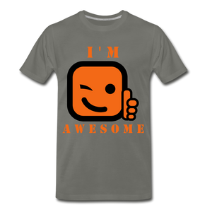 I'm Awesome - asphalt gray