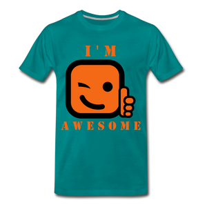 I'm Awesome - teal