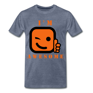 I'm Awesome - heather blue