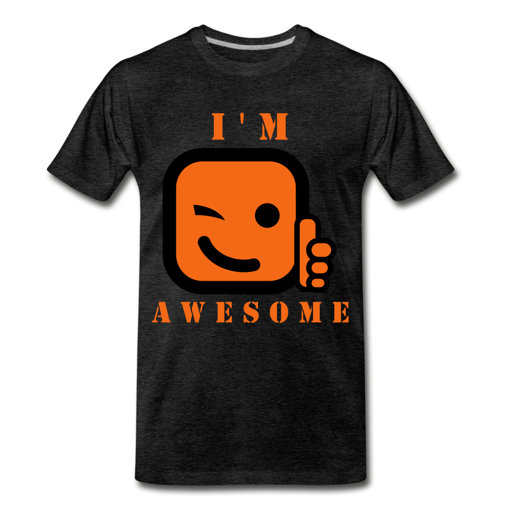 I'm Awesome - charcoal gray