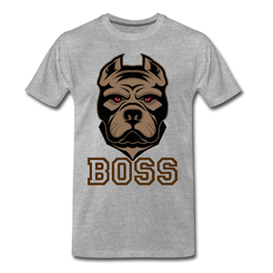 Boss Dog - heather gray