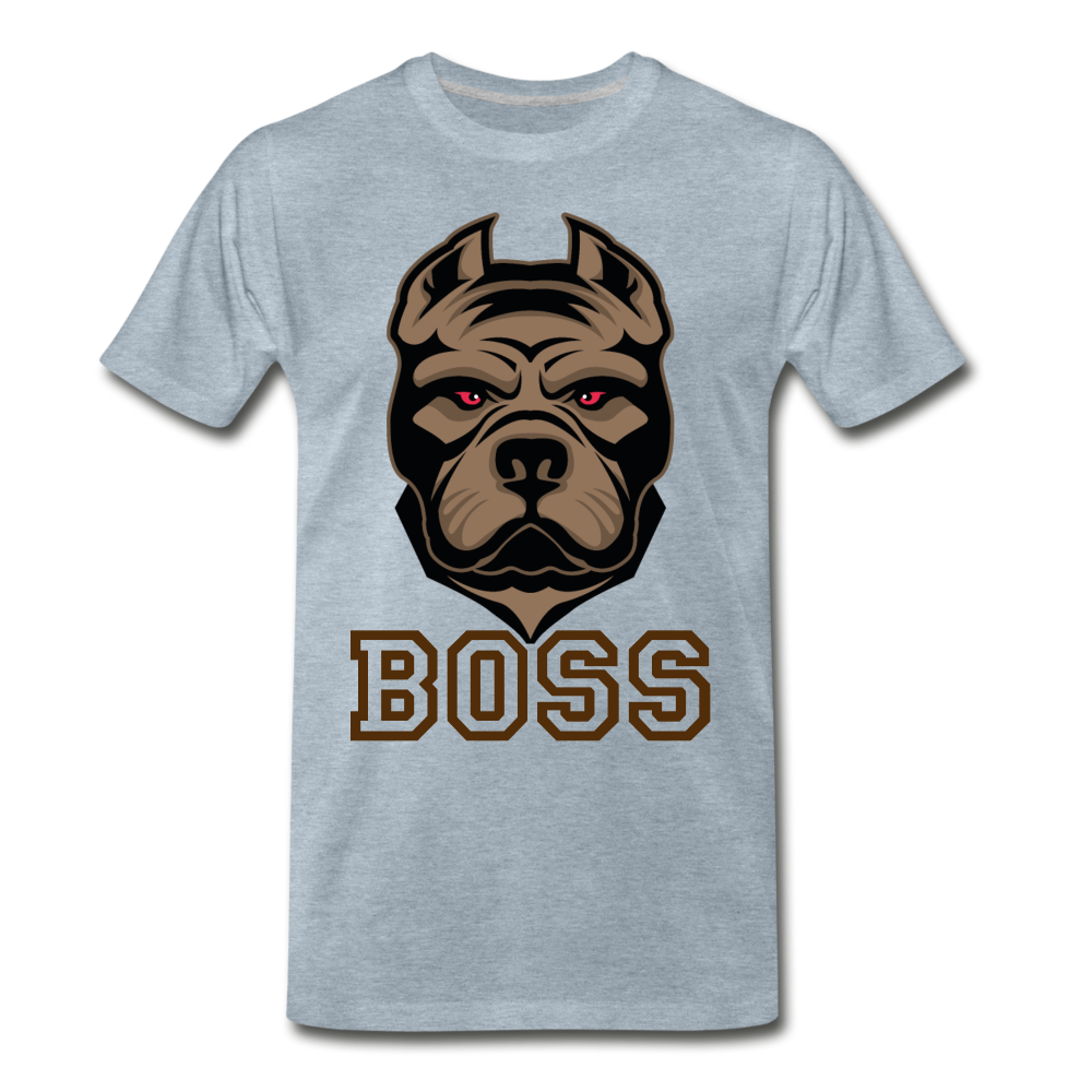 Boss Dog - heather ice blue