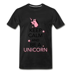 Keep Calm And Be a Unicorn - black