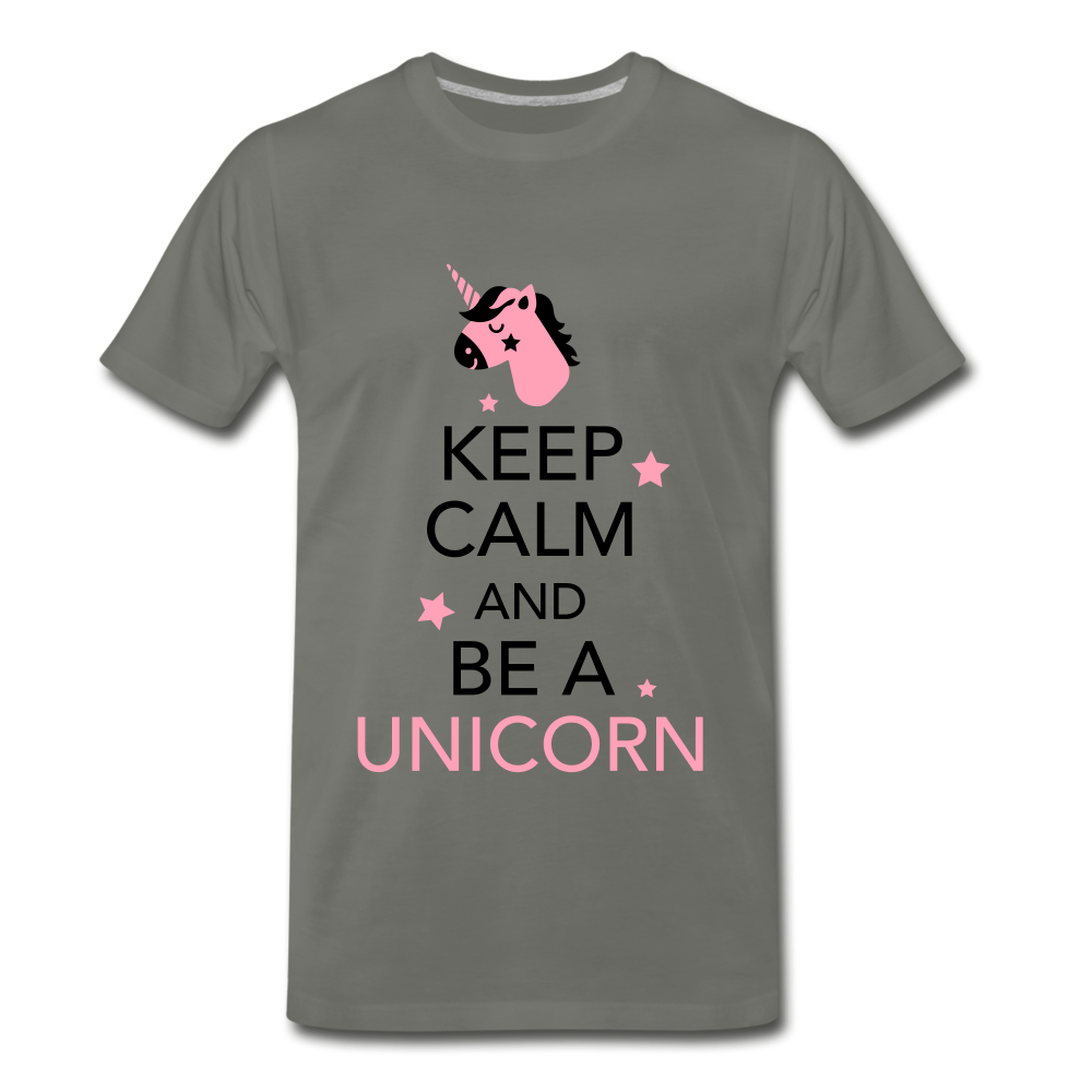 Keep Calm And Be a Unicorn - asphalt gray