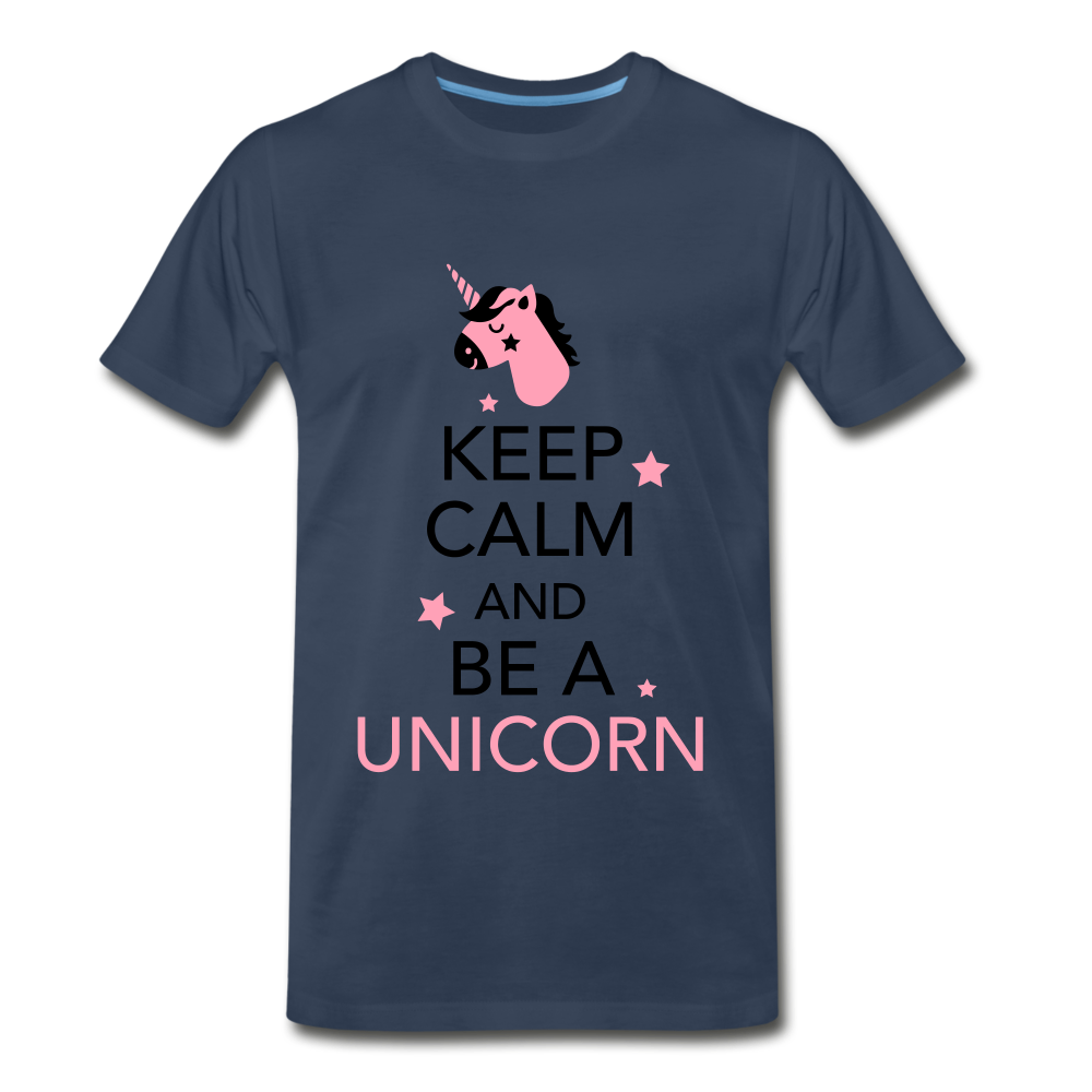Keep Calm And Be a Unicorn - navy