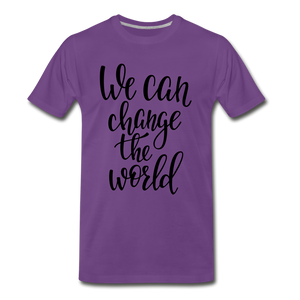 Change the world - purple