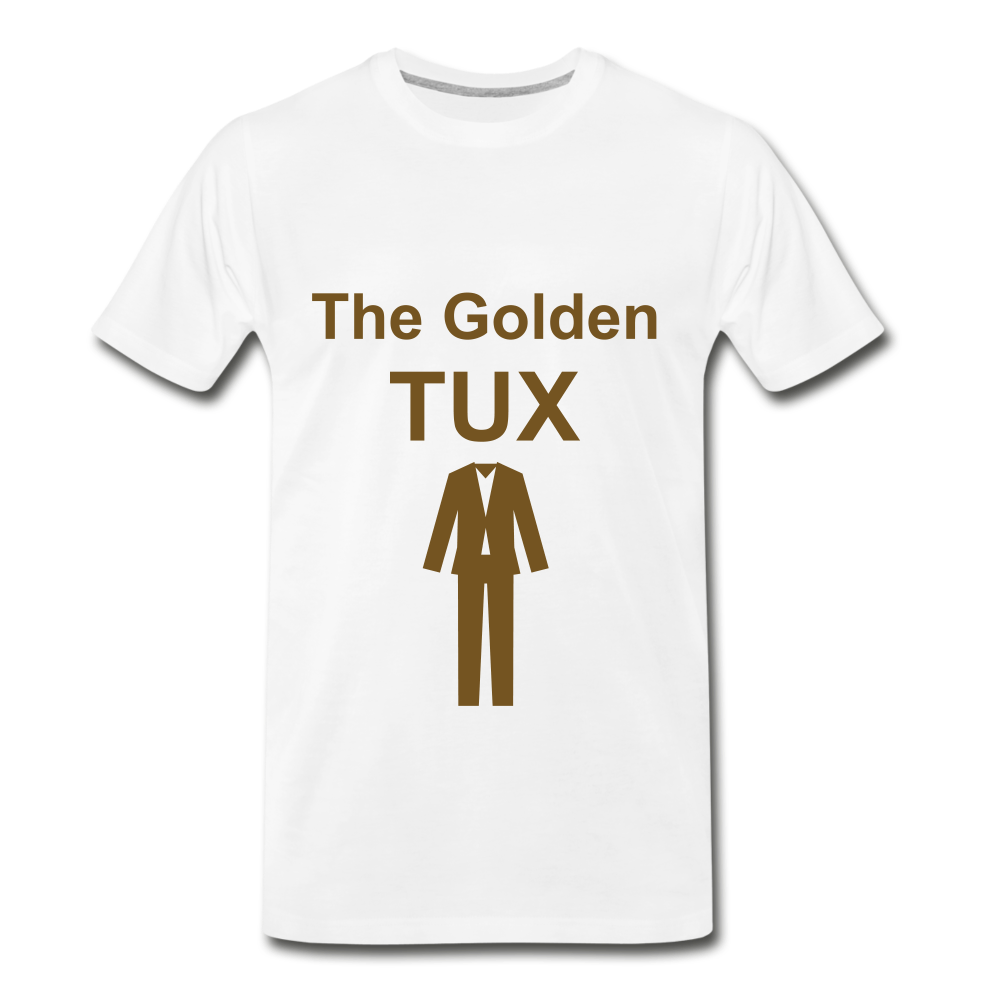 Golden Tux - white