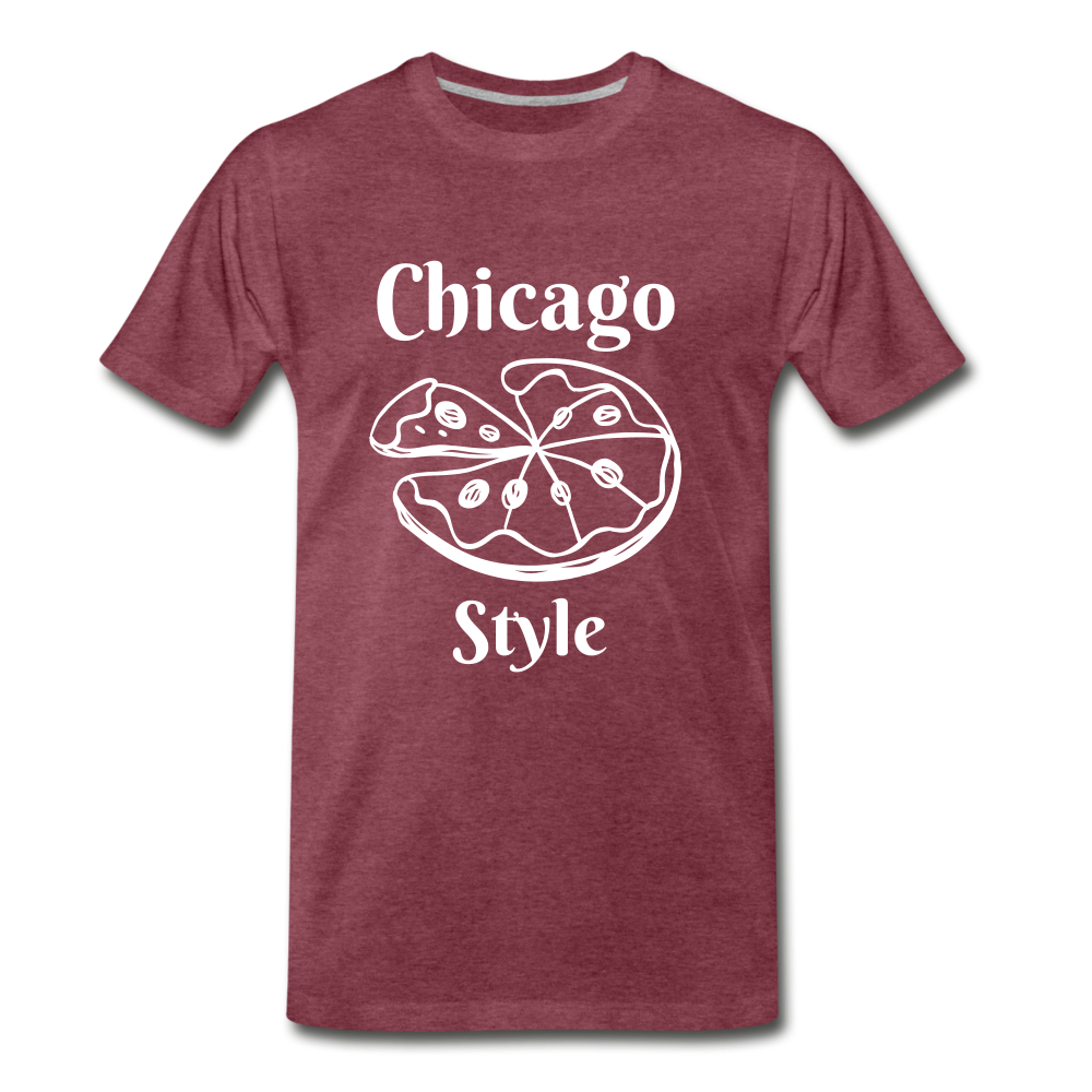 Chicago Style - heather burgundy