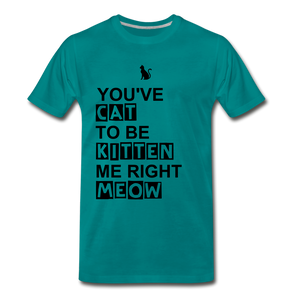 Kitten Me Right Meow - teal