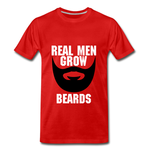 Real Men Grow Beards - red