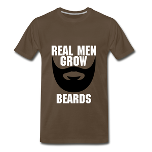 Real Men Grow Beards - noble brown