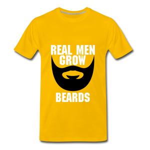 Real Men Grow Beards - sun yellow