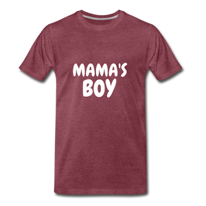 Mama's Boy - heather burgundy
