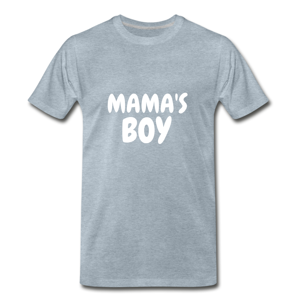 Mama's Boy - heather ice blue