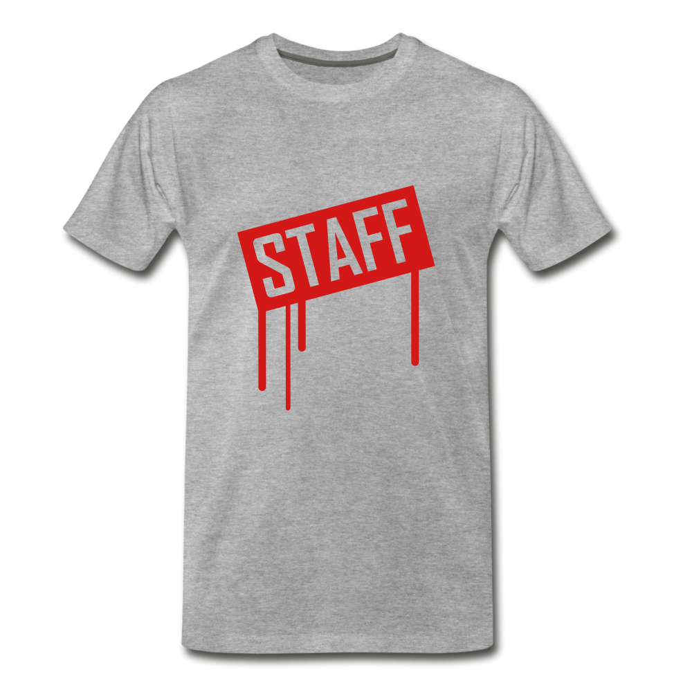 Staff Tee. - heather gray