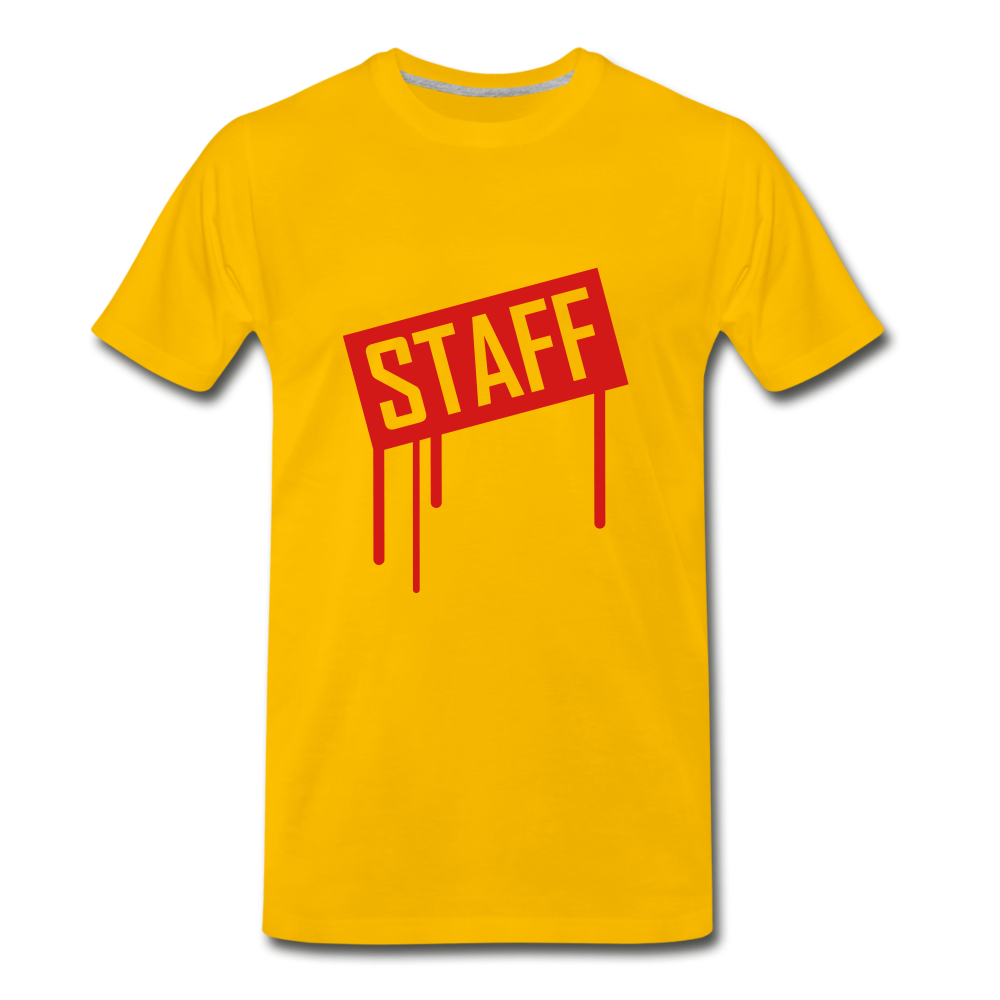 Staff Tee. - sun yellow