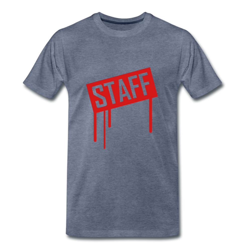 Staff Tee. - heather blue