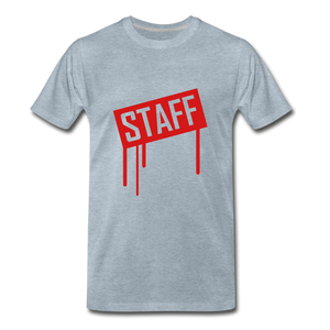 Staff Tee. - heather ice blue