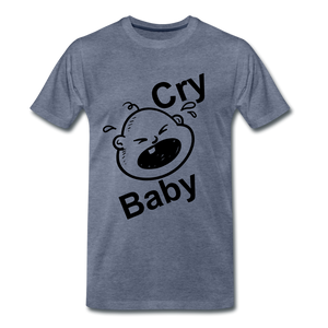 Cry Baby - heather blue