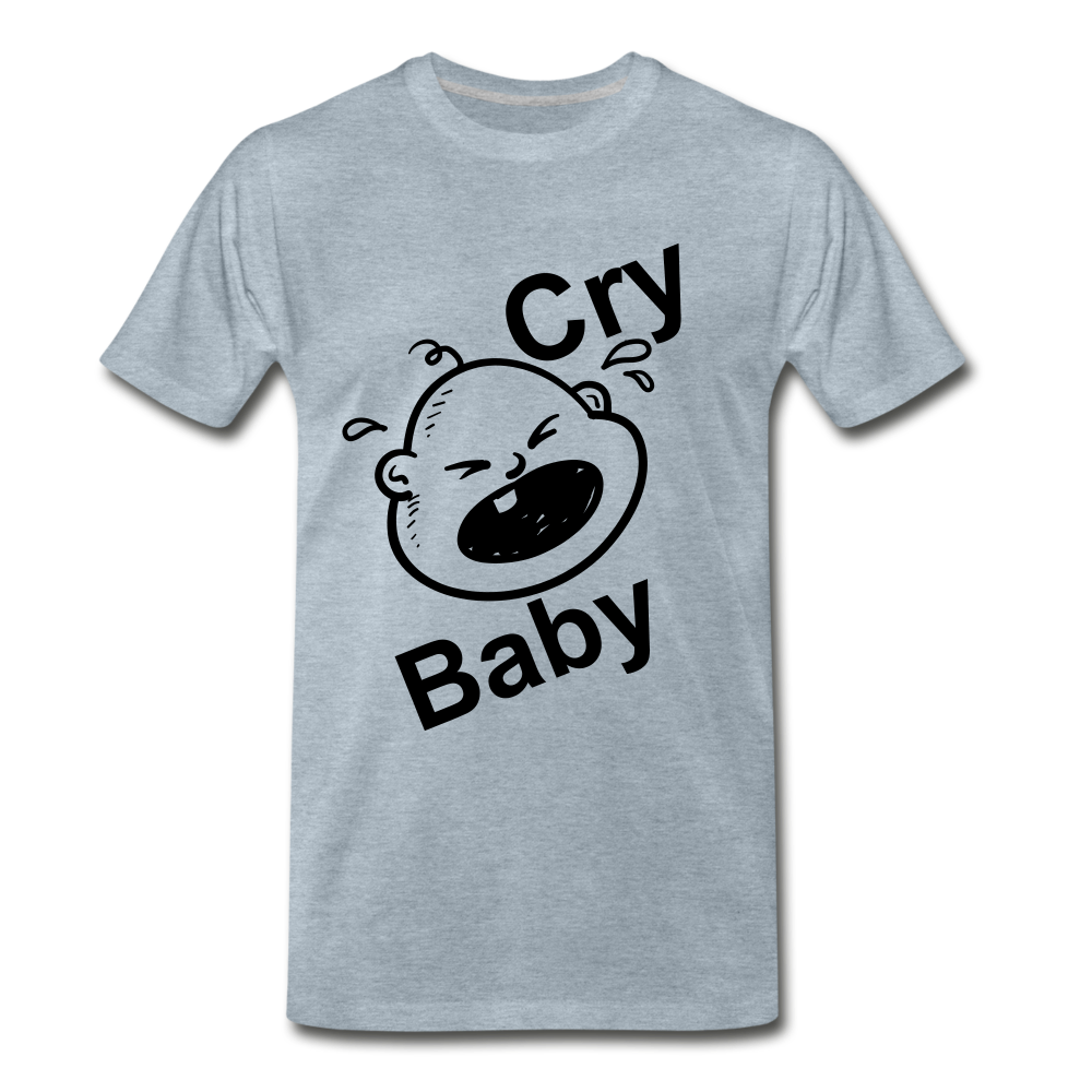 Cry Baby - heather ice blue