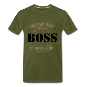 MILITARY TEE - olive green