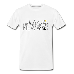 NEW YORK SHINE - white
